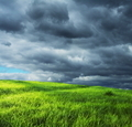 Field and storm clouds - PhotoDune Item for Sale
