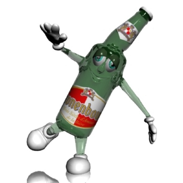 Beer Bottle Cartoon Character - 3DOcean Item for Sale