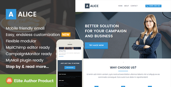 Alice, Business Email Template + Builder Access