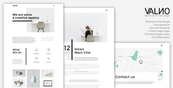Valno - Minimal Creative Multi page Portfolio Template