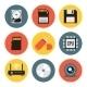 Digital Data Vector Flat Icons