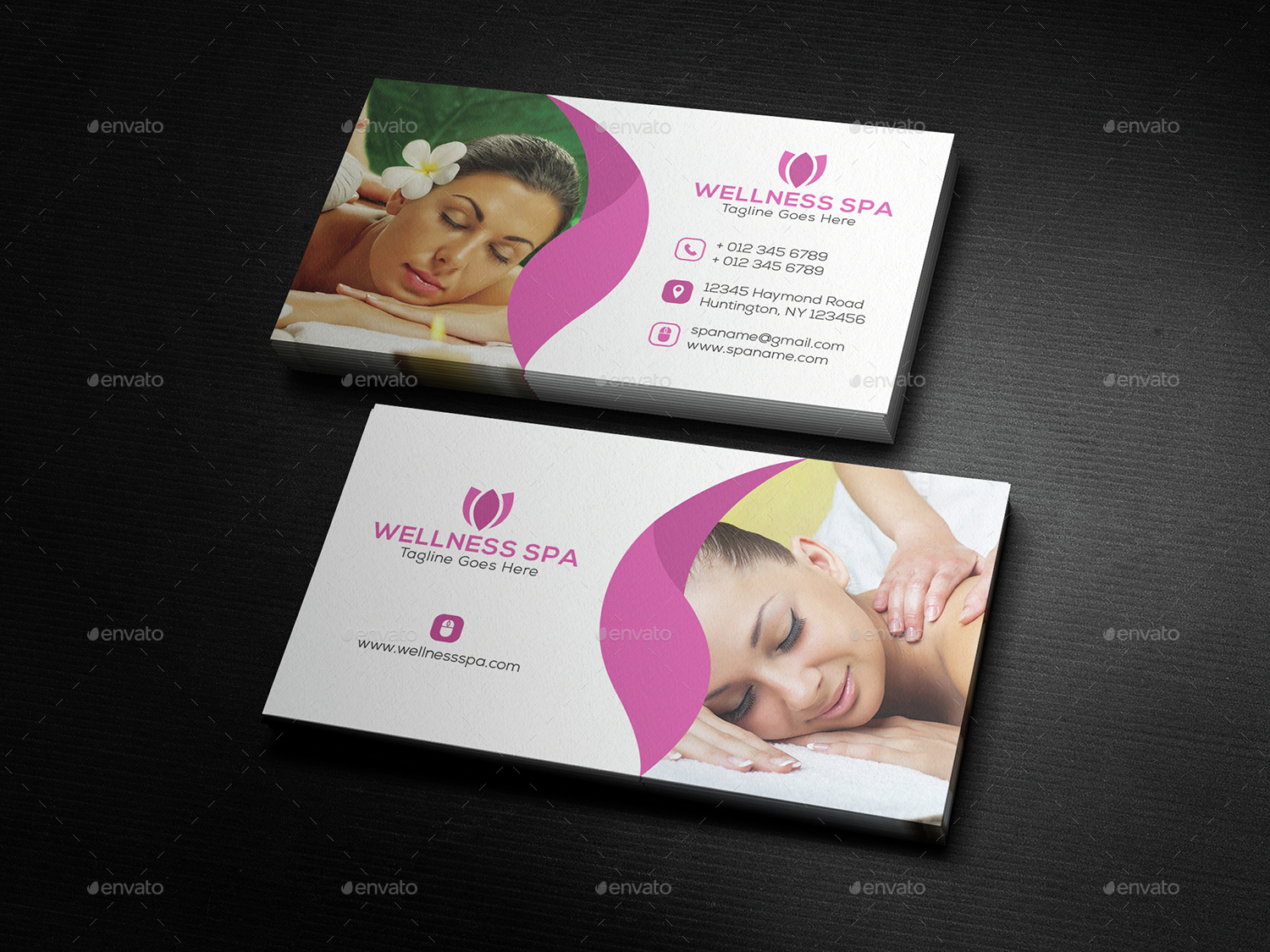 Beauty & Spa Business Card by DesignerEshad