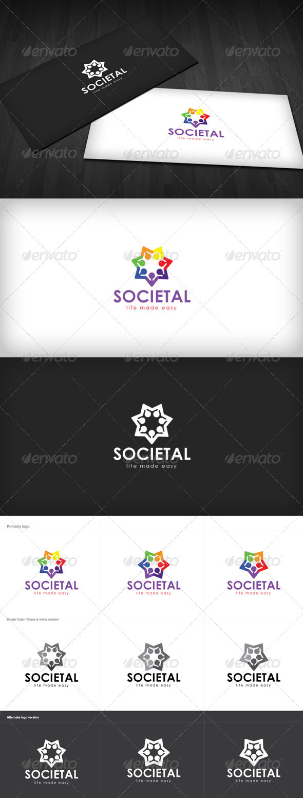 Social Comunity Logo - Humans Logo Templates