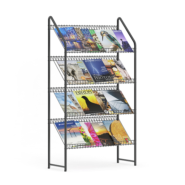 Market Stand with Magazines - 3DOcean Item for Sale