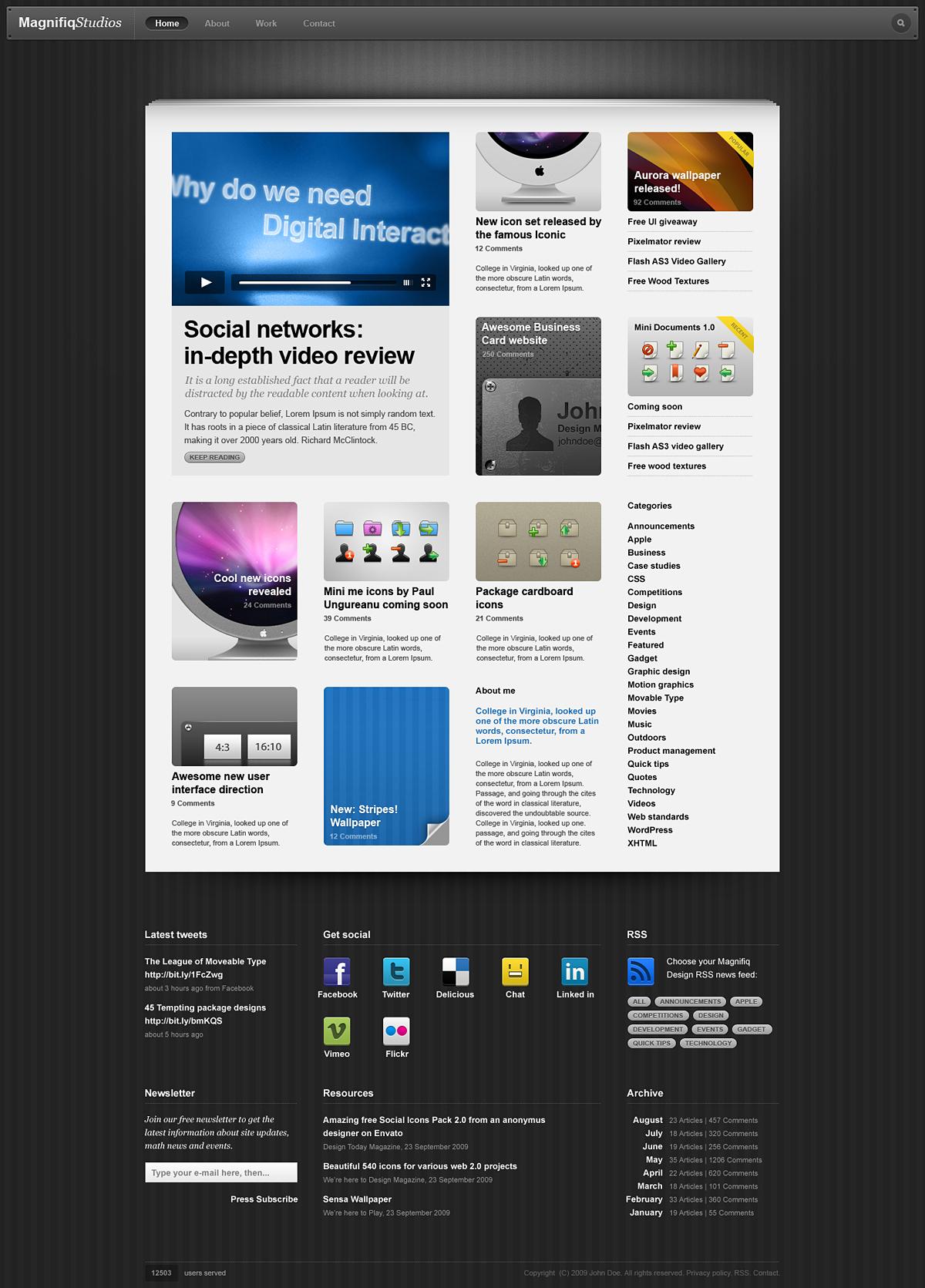 Design Website, Blog, Web 2.0