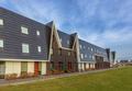Austere design row houses