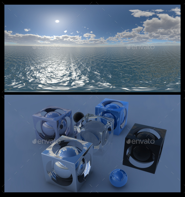 3DOcean Ocean Blue Clouds 11 HDRI 15382030