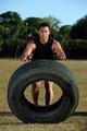 sportman flipping tire