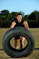 flipping big tire