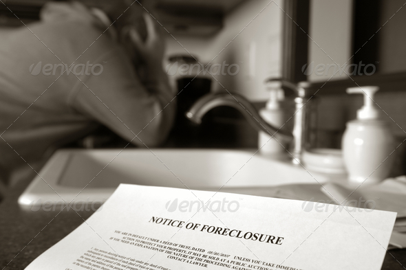 Stock Photo - PhotoDune Real Estate Foreclosure Notice and Man Crying 1537890