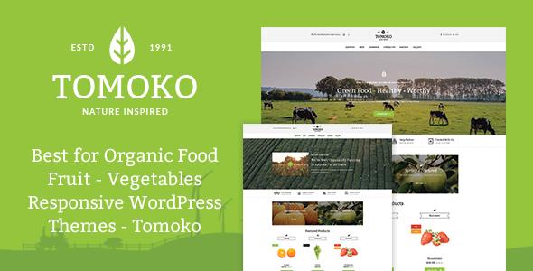 Organic Food/Fruit/Vegetables Responsive WordPress Theme - Tomoko