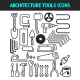 Architecture and Construction Tools Icons Set.