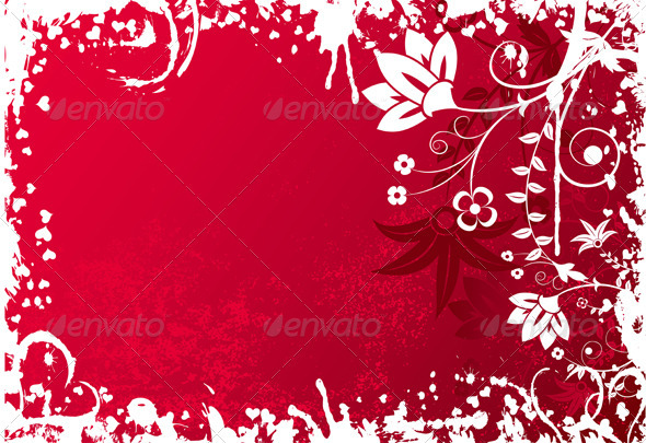 Valentines grunge background - Valentines Seasons/Holidays