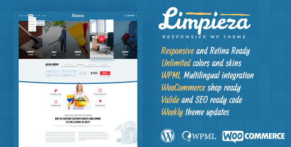 Download Limpieza Cleaning Company WordPress Theme nulled download