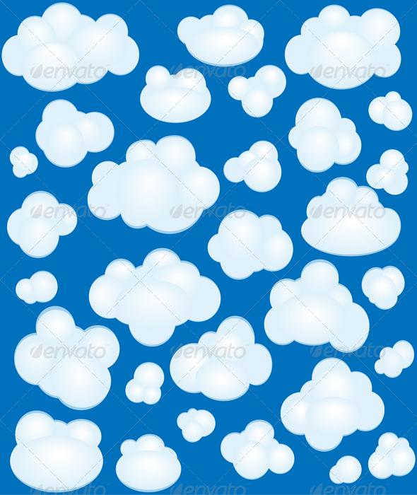 GraphicRiver Cartoon clouds set 1537951