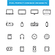 Thin Line Computer Device Icon Set