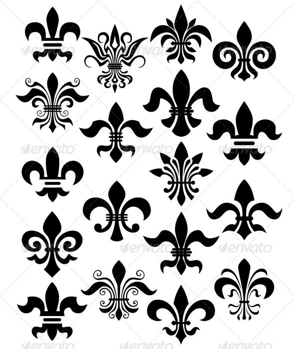 GraphicRiver fleur de lis set 1538041