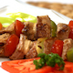 Shish Kebab in Plate
