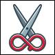 Infinity Style - Scissors Logo