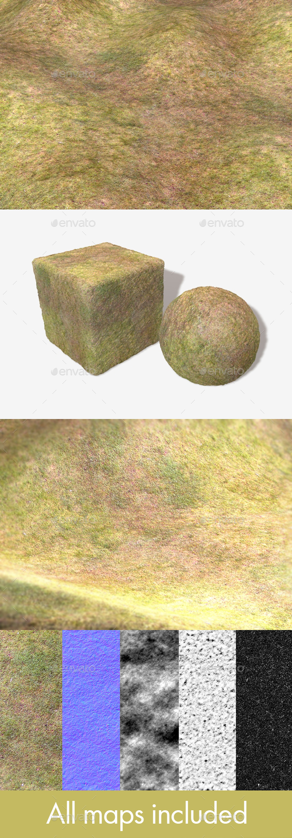 Dry Grass Birds Eye View Seamless Texture - 3DOcean Item for Sale