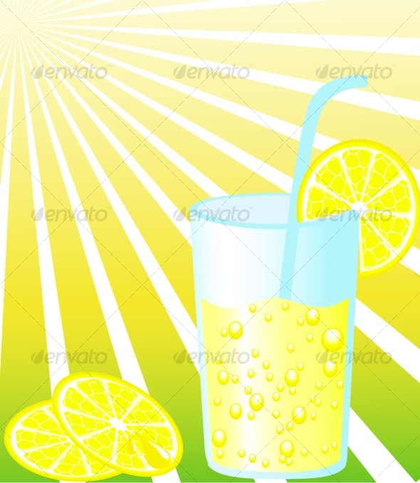 Glass of lemonade - Food Objects
