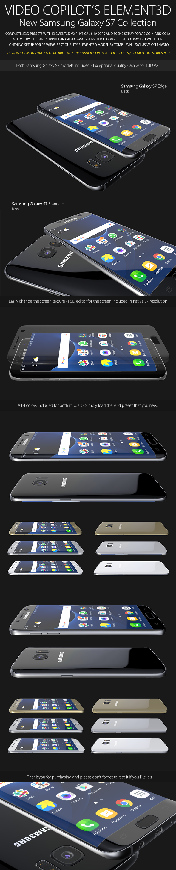 Element3D - Samsung Galaxy S7 Collection - 3DOcean Item for Sale