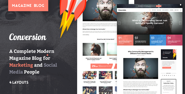 Download Ultimate Conversion - Digital Marketing Magazine Blog Theme nulled download