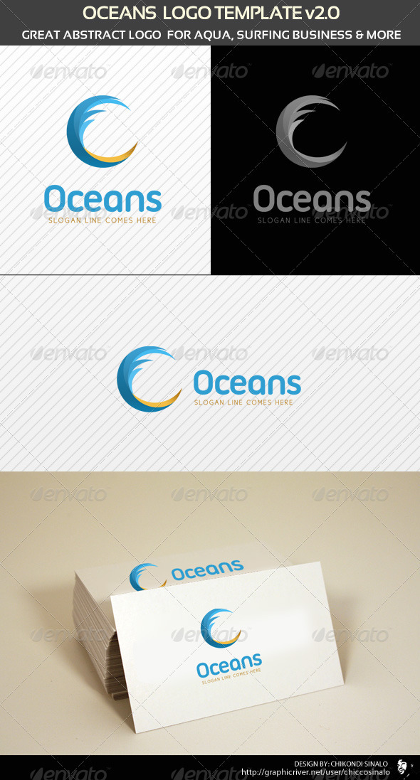 Oceans Logo Template - Abstract Logo Templates