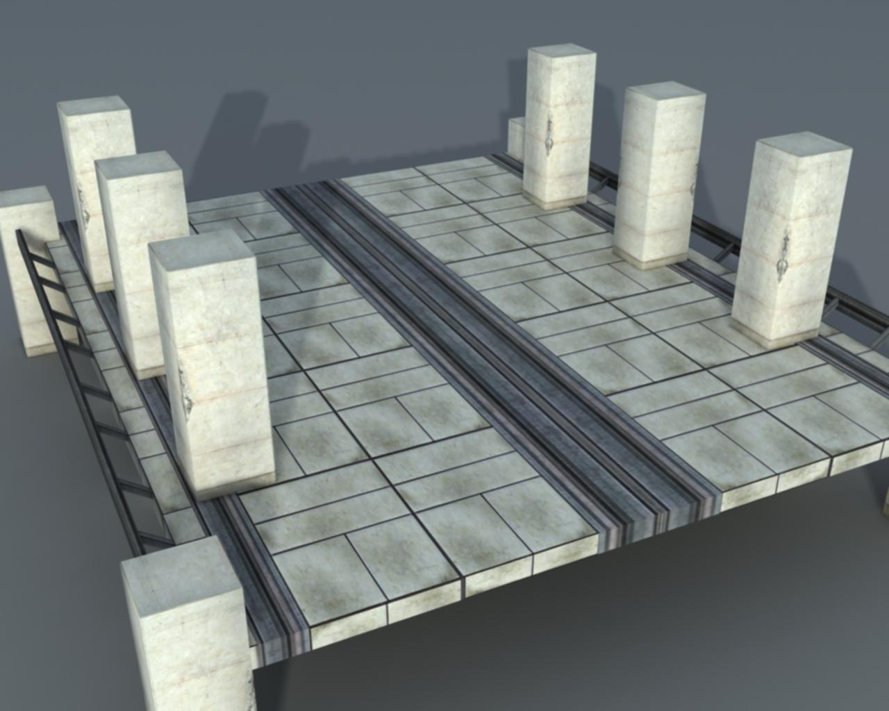 Bridge sci-fi - 3DOcean Item for Sale
