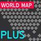 World Map Plus + Crosses - GraphicRiver Item for Sale