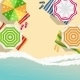 Summer Time Background. Sunny Beach In Flat Design