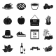 Thanksgiving Day Black Simple Icons