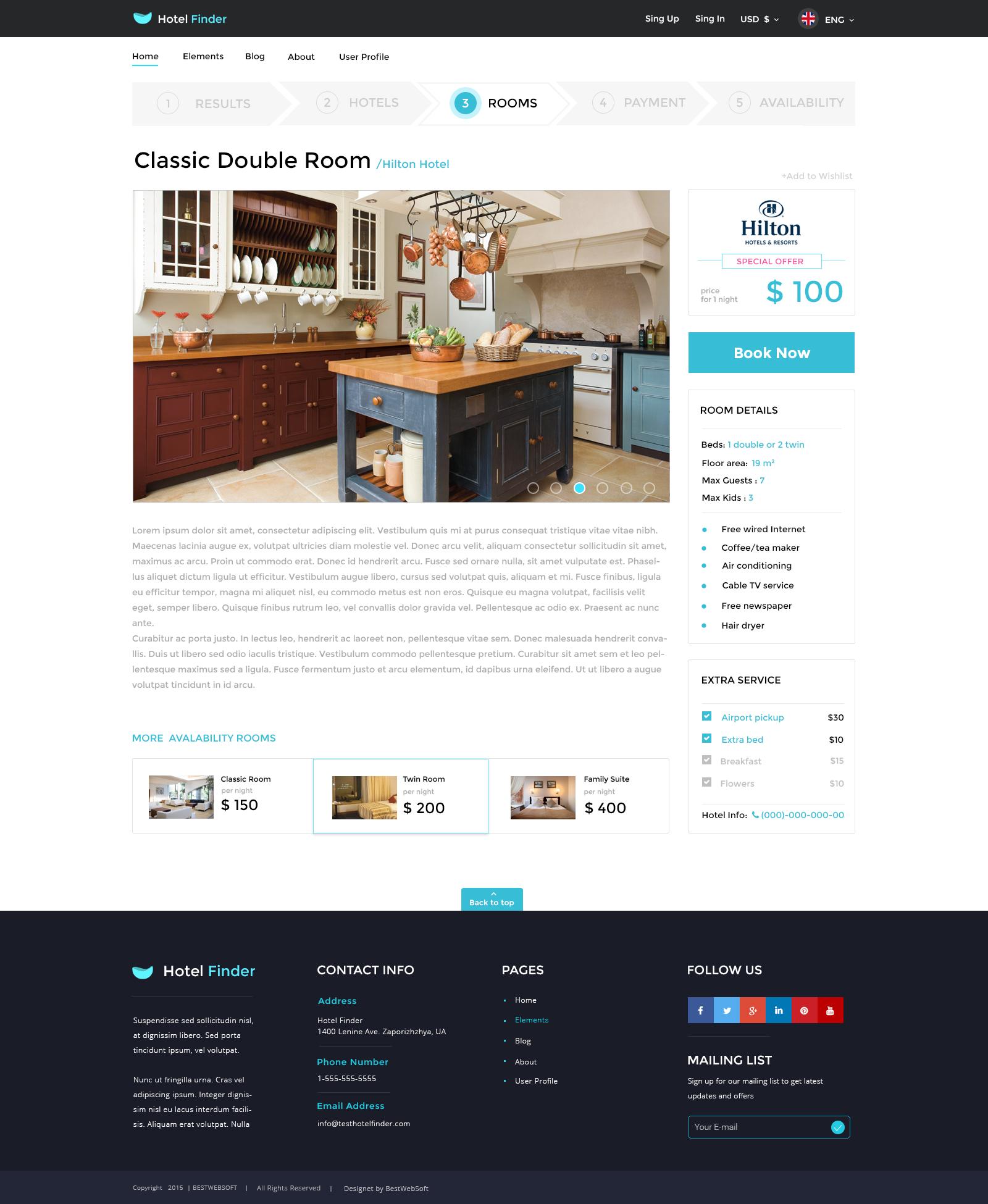 hotel finder online booking html website template by bestwebsoft jpg 11 room page 1200 special offer jpg