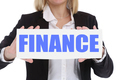 Finance financial finances money business concept