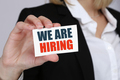 We are hiring jobs, job working recruitment business concept