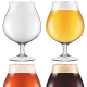 Elegant Craft Beer Glass in Four Versions