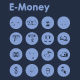 16 E-Money icons
