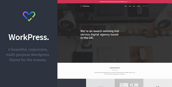WorkPress - Responsive, Modular, Multi-Purpose WordPress Theme