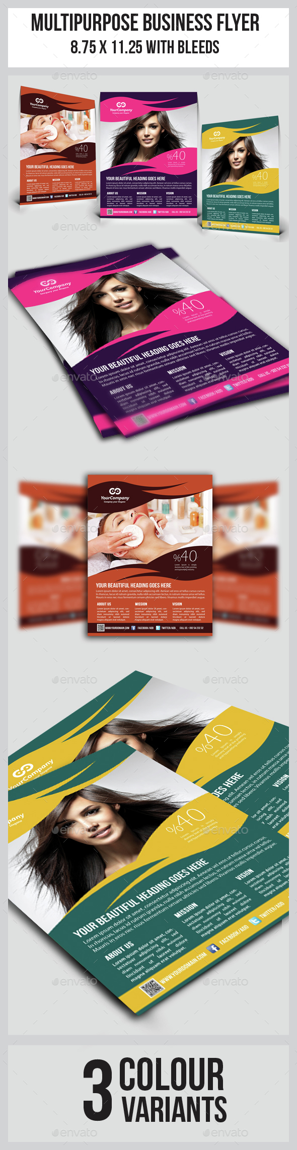 Hair & Beauty Salon Business Flyer