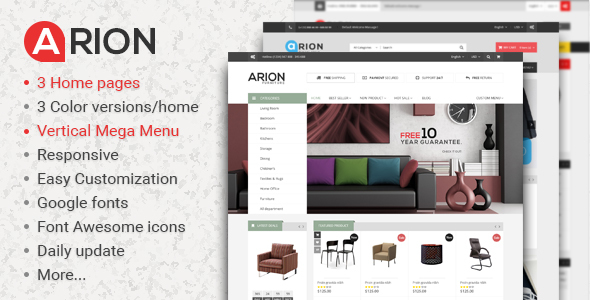 Image of Arion Responsive Prestashop Theme
