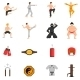 Martial Arts Icons Set
