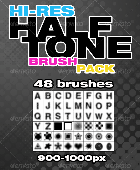 GraphicRiver Hi-Res Halftone Brush Pack 60717