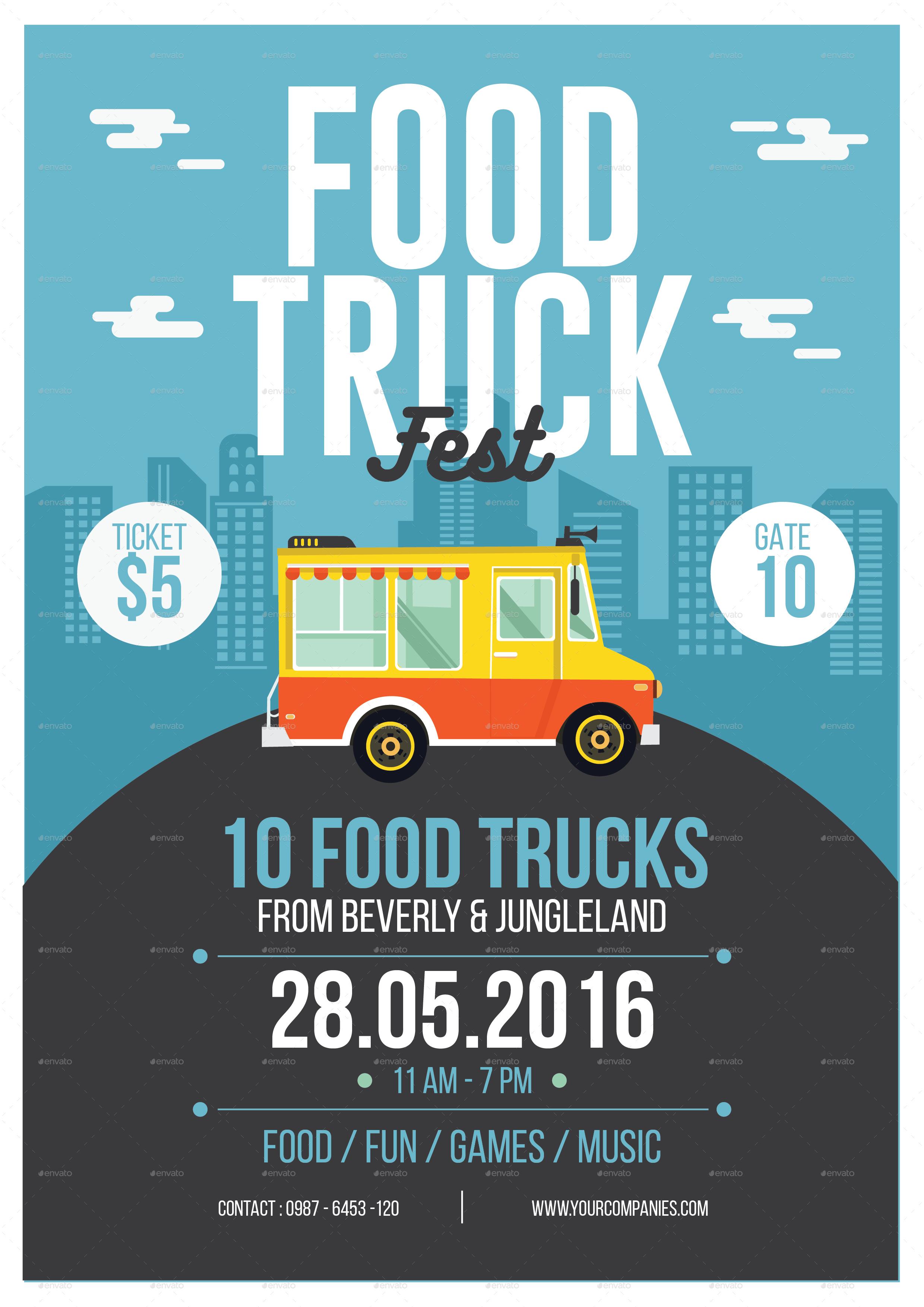 Food Truck Flyer By Tokosatsu Graphicriver