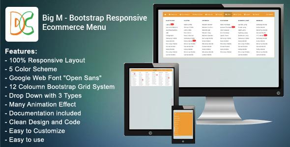 Big M - Bootstrap Responsive Ecommerce Menu