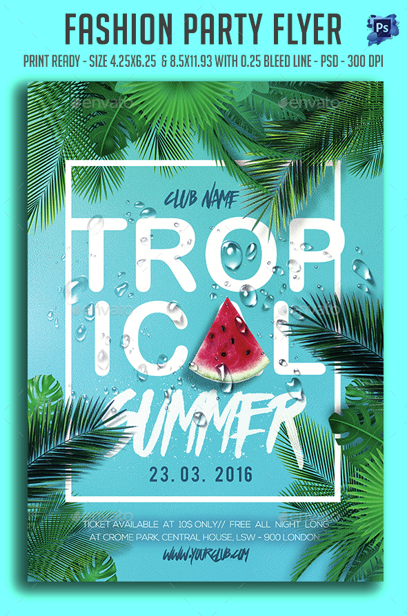 Topical Summer Party Flyer