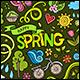Spring Doodles Symbols Set