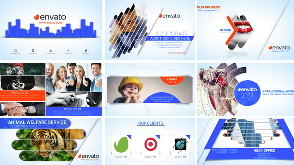 Clean corporate profile after effects template for Company profile after effects templates free download