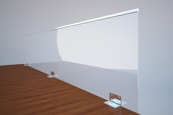 Glass Fences - 3DOcean Item for Sale