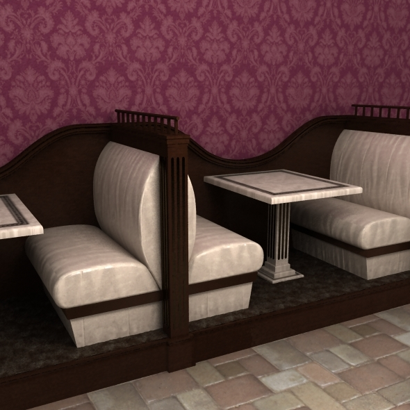 Restaurant seats - 3DOcean Item for Sale