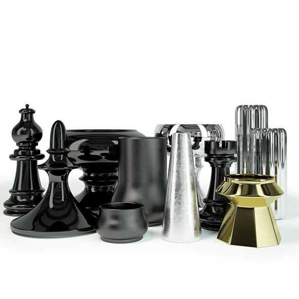 decorative vases - 3DOcean Item for Sale